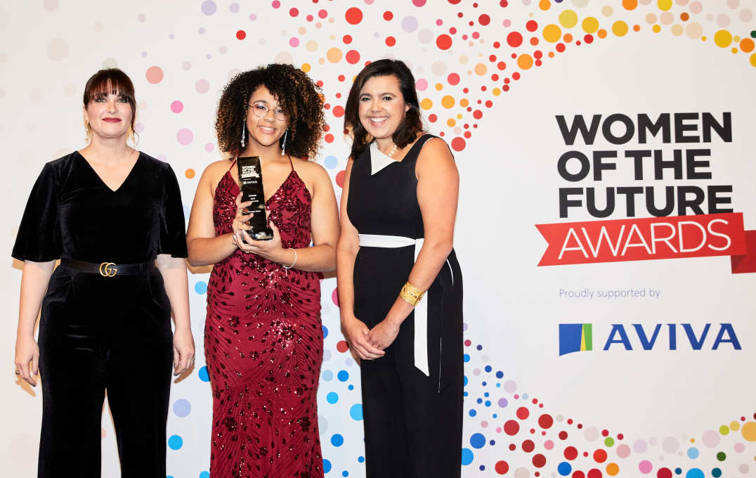 Worldpay's Nichole Viviani, Rising Star winner Vanessa Madu and The Honourable Emily Benn. Picture: Erroll Jones