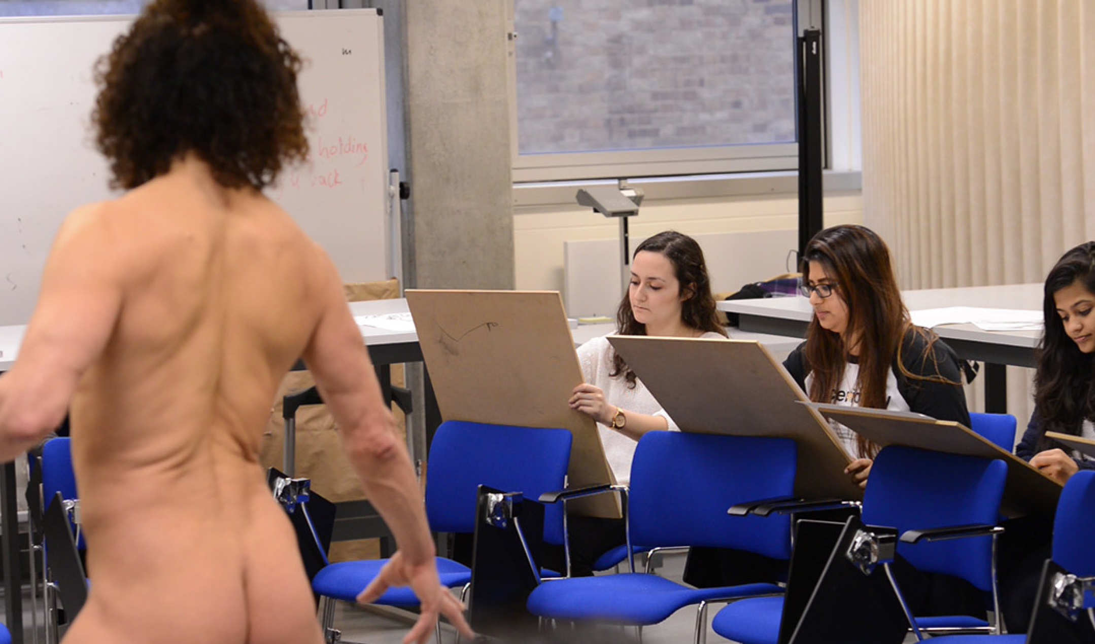 Enhancing understanding of the body in an optional life drawing class.