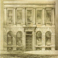 Drawing of the Royal College of Chemistry at Oxford Street, circa 1845
