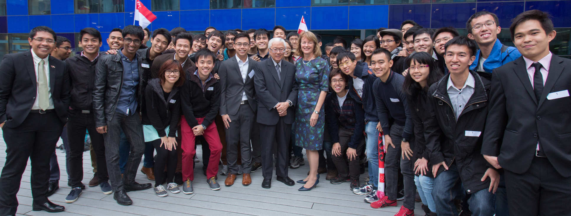 The Singaporean President Tony Tan Keng Yam visiting Imperial in 2014