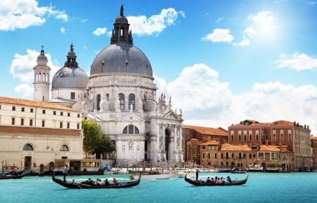 A photograph of the Grand Canal in Venice