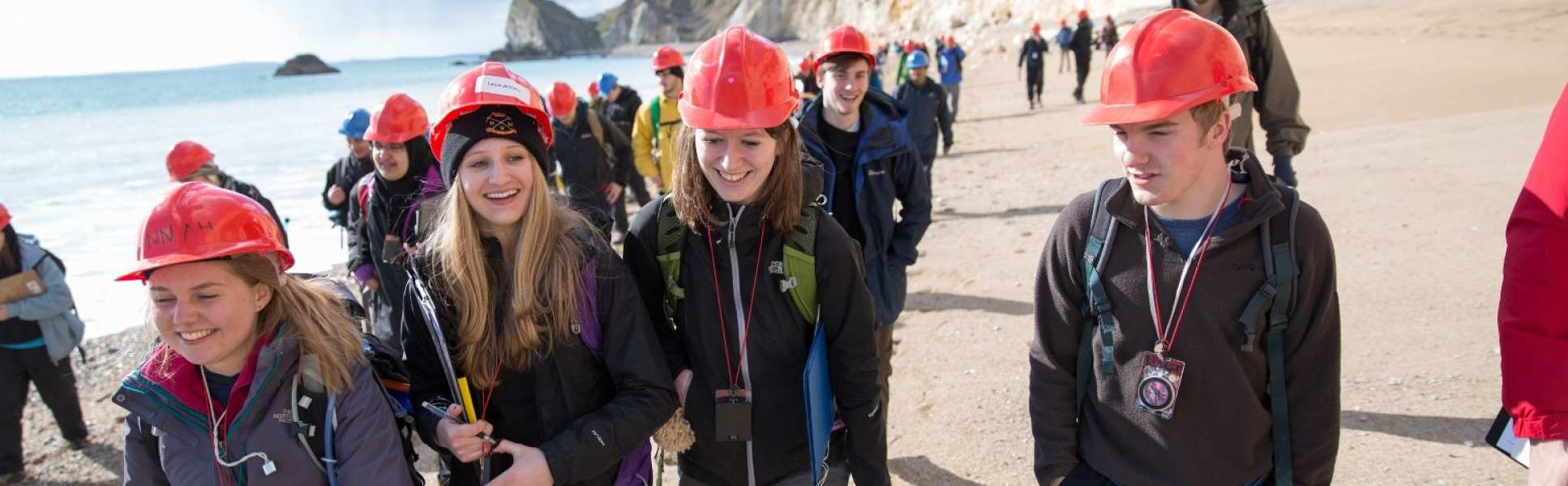 Students on a geology trip
