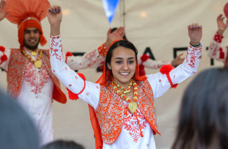 Imperial's the Bhangra Society and Combination Dance Company performing at Imperial Festival