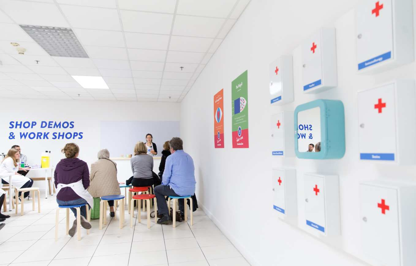 The Heart and Lung Convenience Store is a one-off collection of interactive exhibits and installations exploring how medicine is becoming more available, more personalised and more convenient.