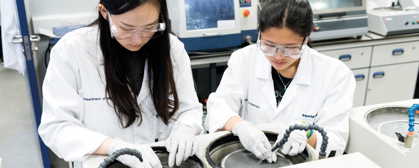 Materials students in the lab