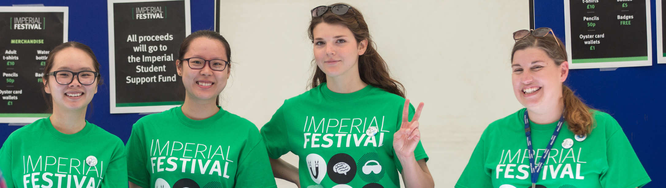 Staff and students volunteering at Imperial Festival
