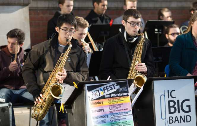 Imperial College big band at an Imperial Fringe event