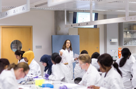 School students take part in a Sutton Trust summer school on campus