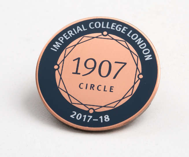 Imperial 1907 lapel pin
