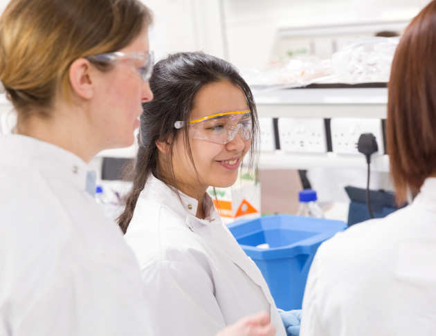 medical bioscientists collaborating in the lab