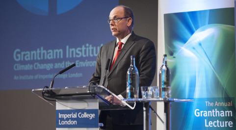 Prince Albert II of Monaco delivering the Grantham Annual Lecture