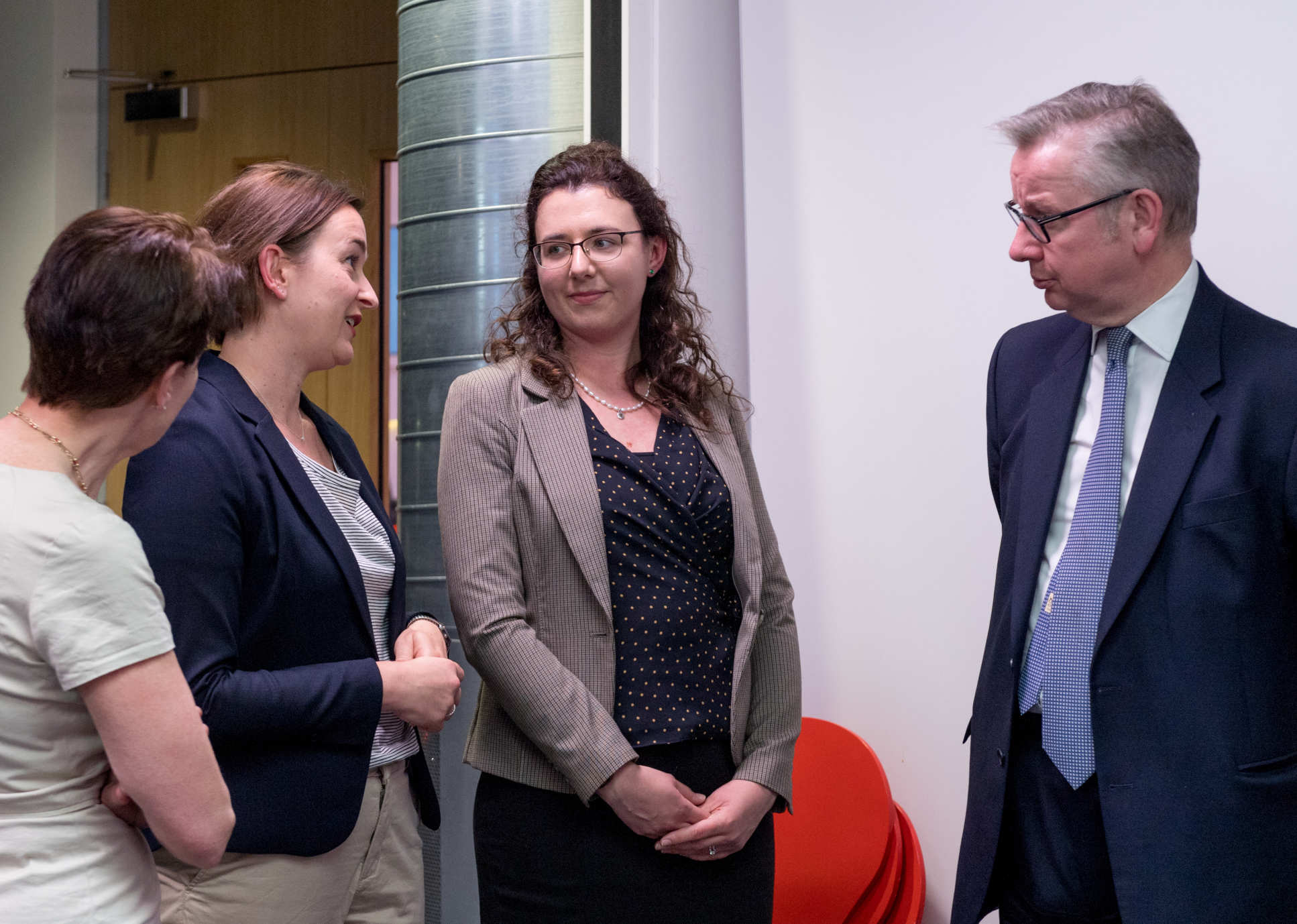 Dr Daniela Fecht (second from left) spoke to Michael Gove at the launch of the government's Clean Air Strategy