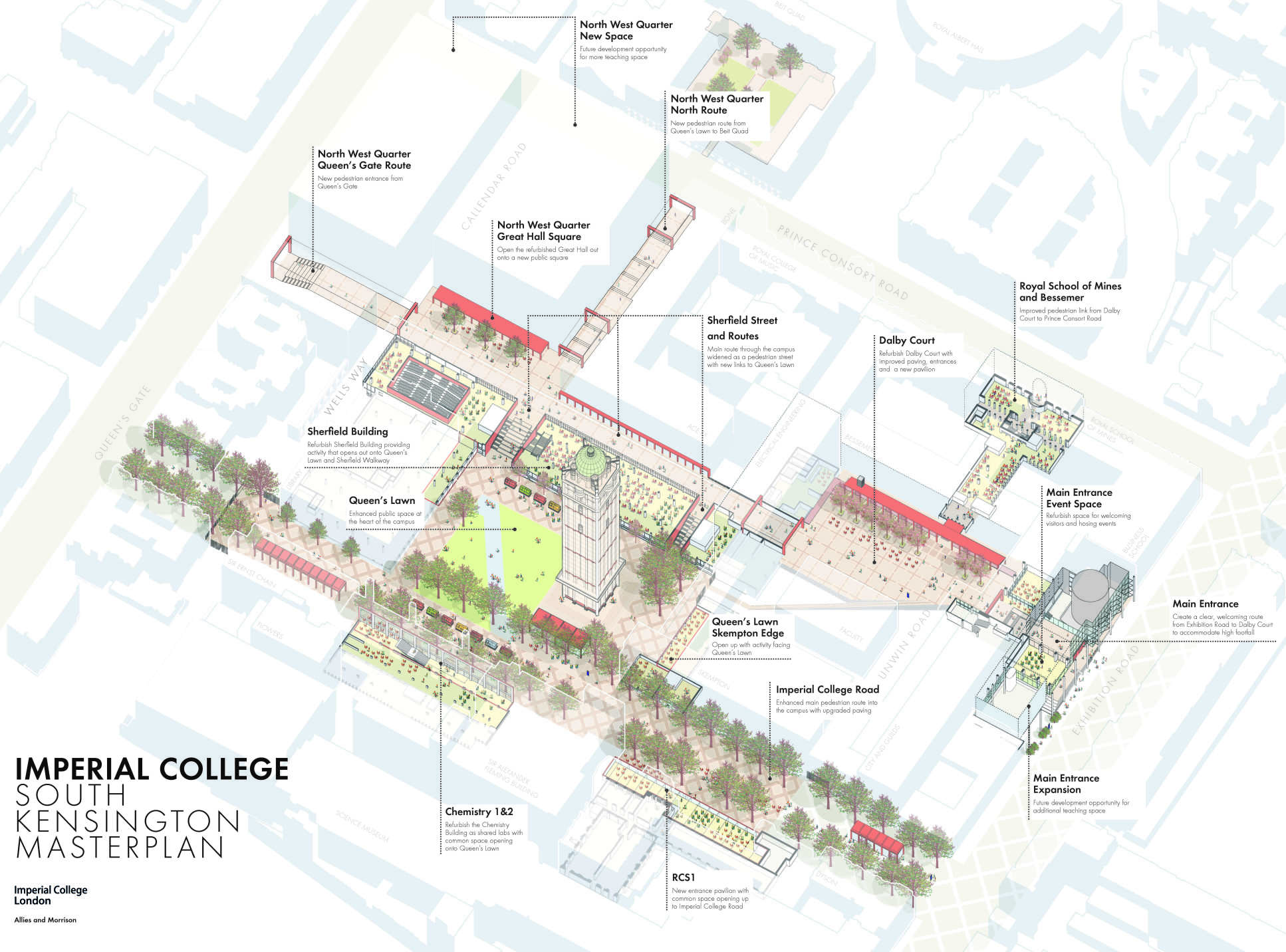 South Kensington London Map.South Kensington Masterplan About Imperial College London