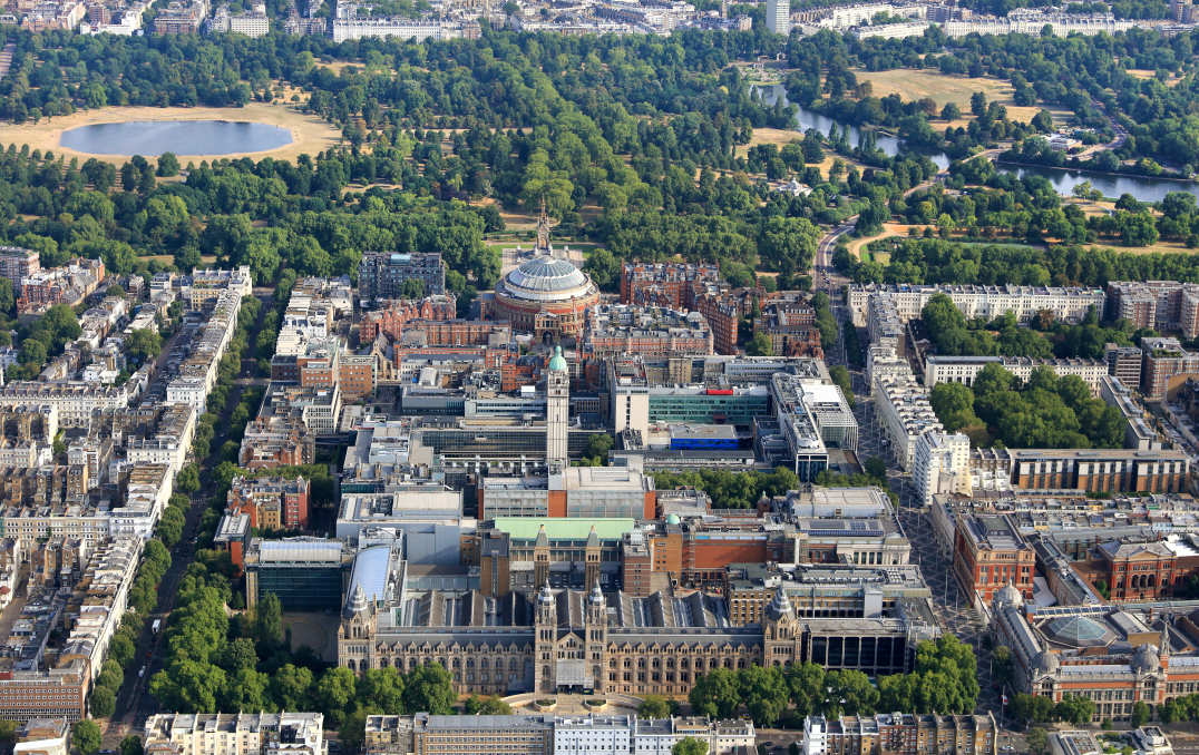 South Kensington aerial shot
