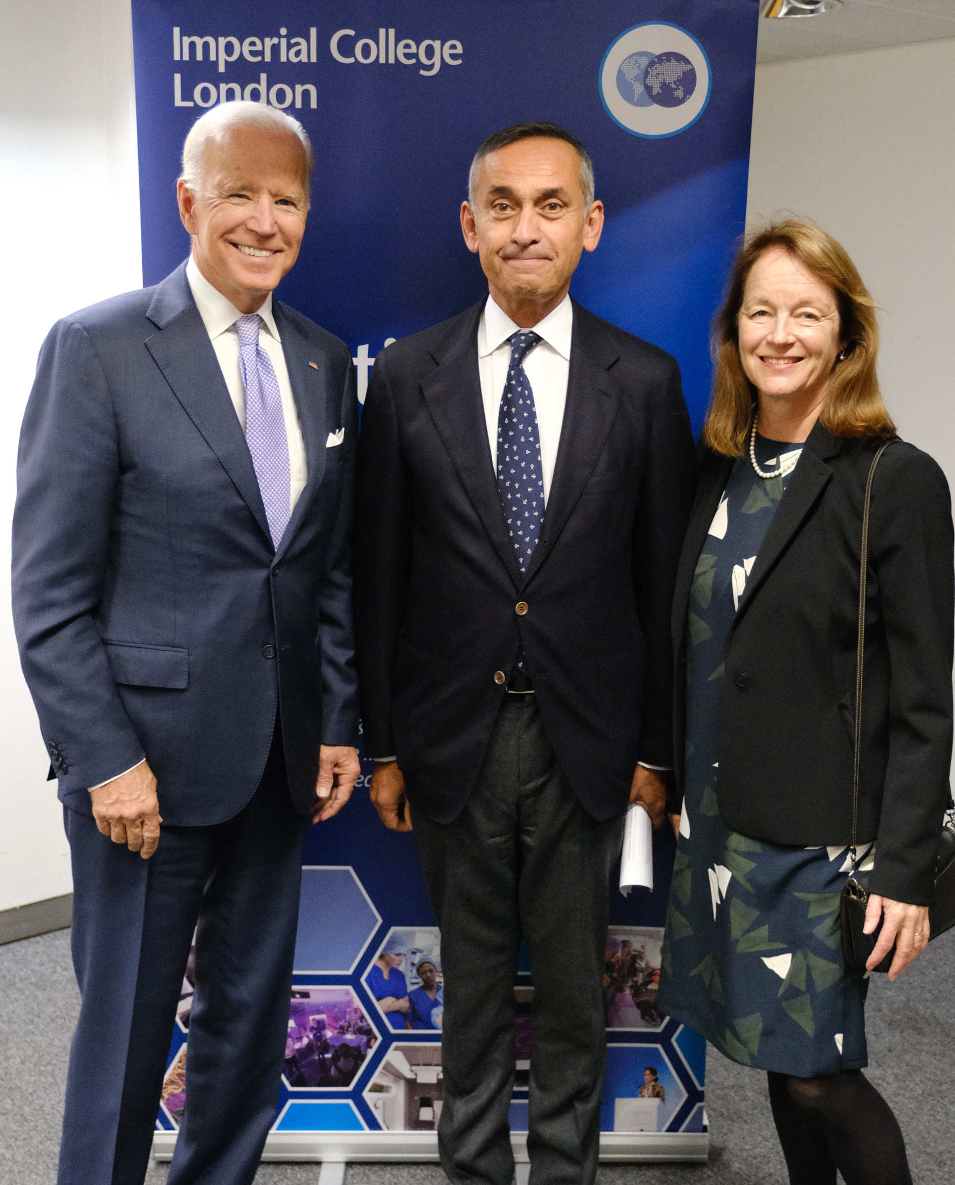 Vice President Biden met President Gast and Lord Darzi to discuss Imperial's new cancer centre