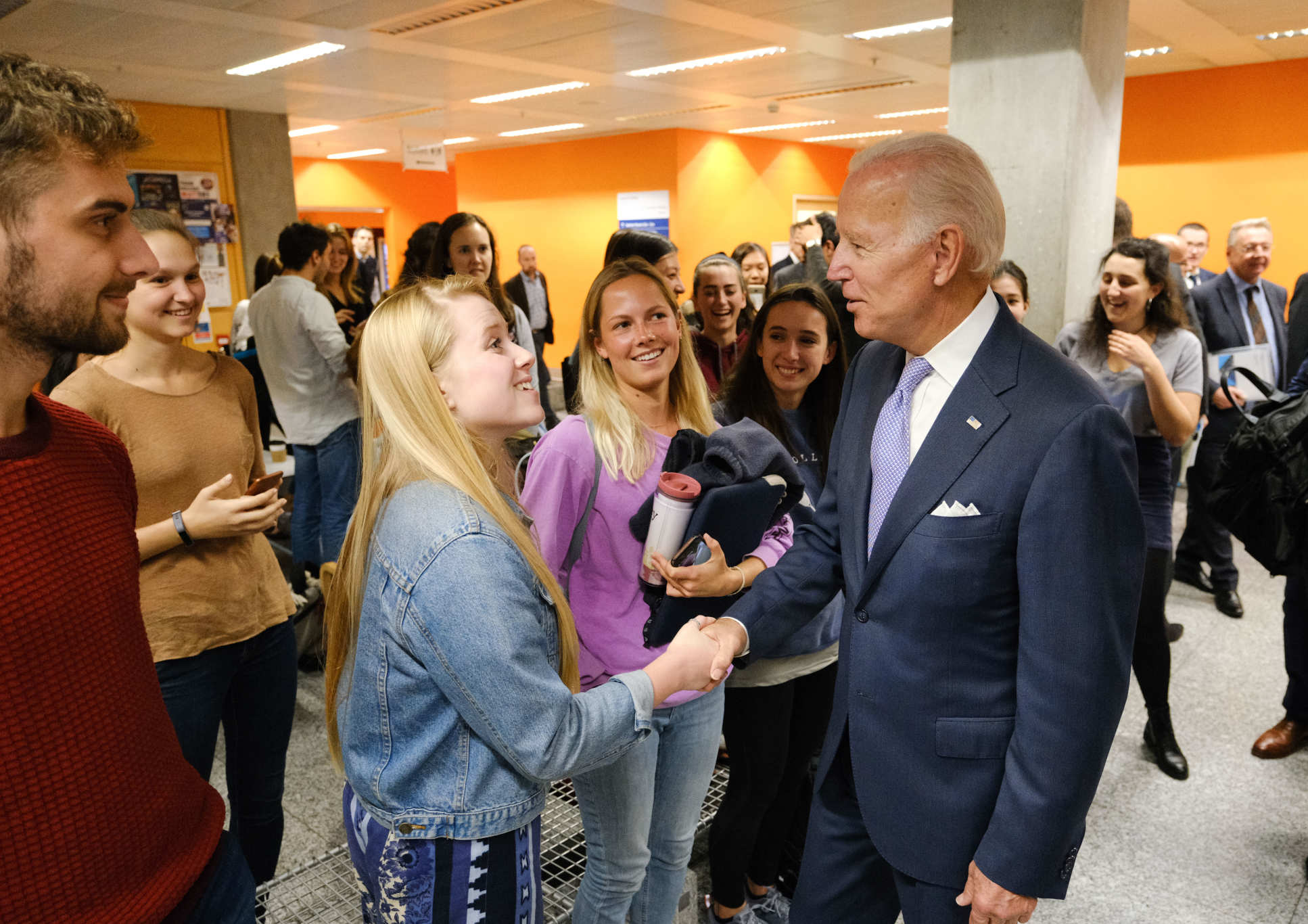 Vice President Biden spent time after his lecture meeting Imperial's talented students