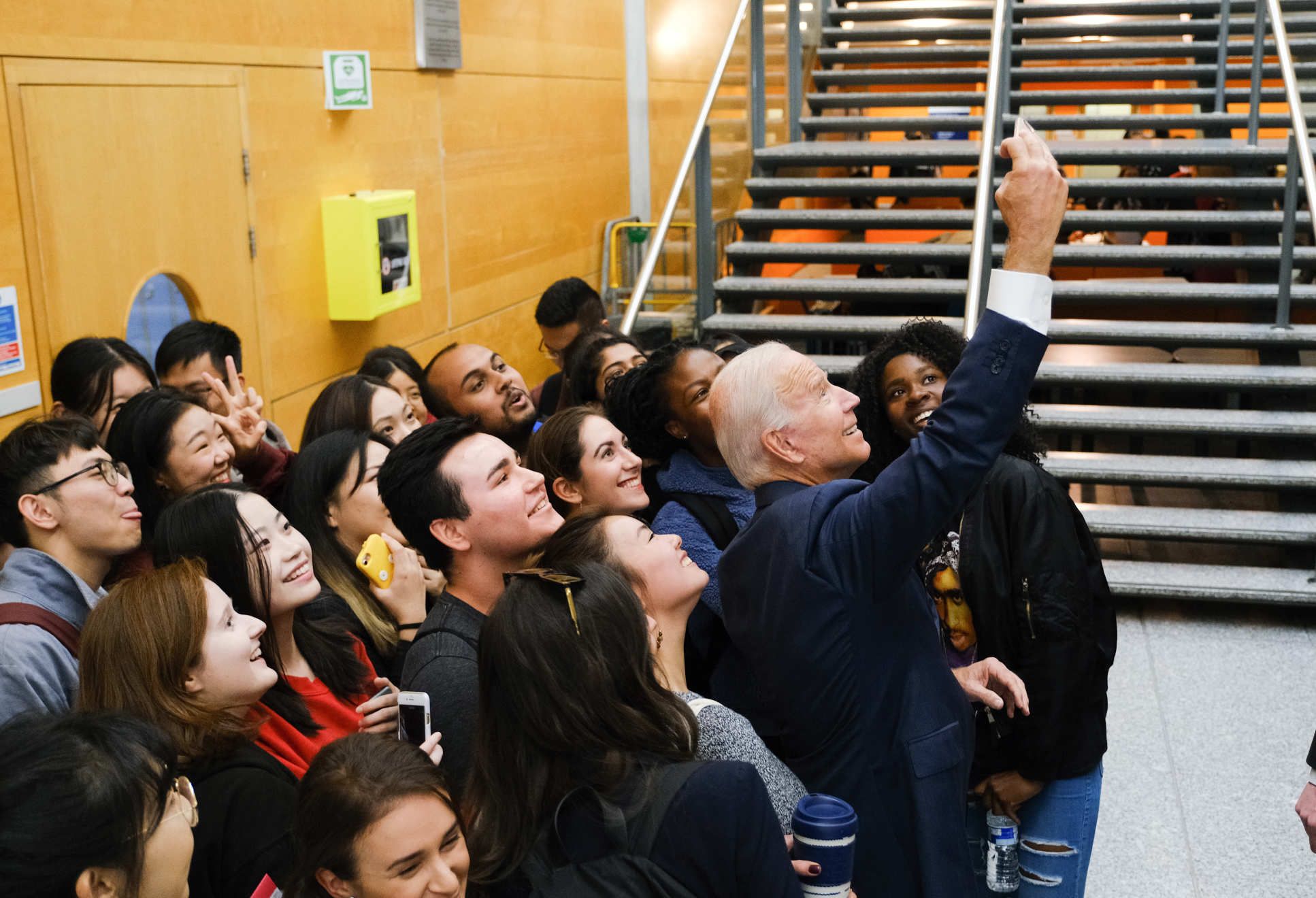 Vice President Biden stopped to pose for a selfie with Imperial students