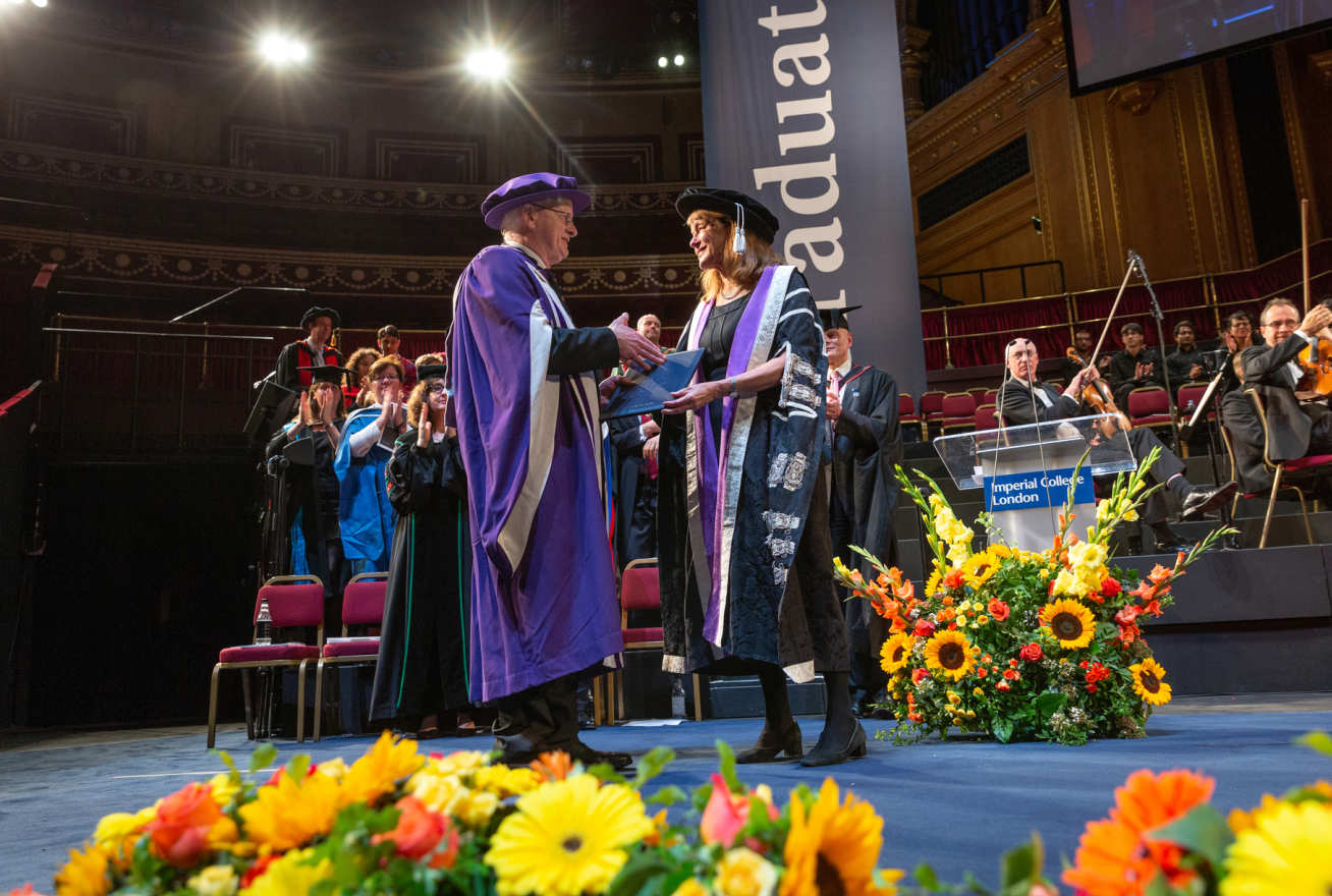 Professor James Stirling receiving his honorary degree
