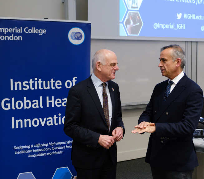 Dr David Nabarro and Professor Ara Darzi