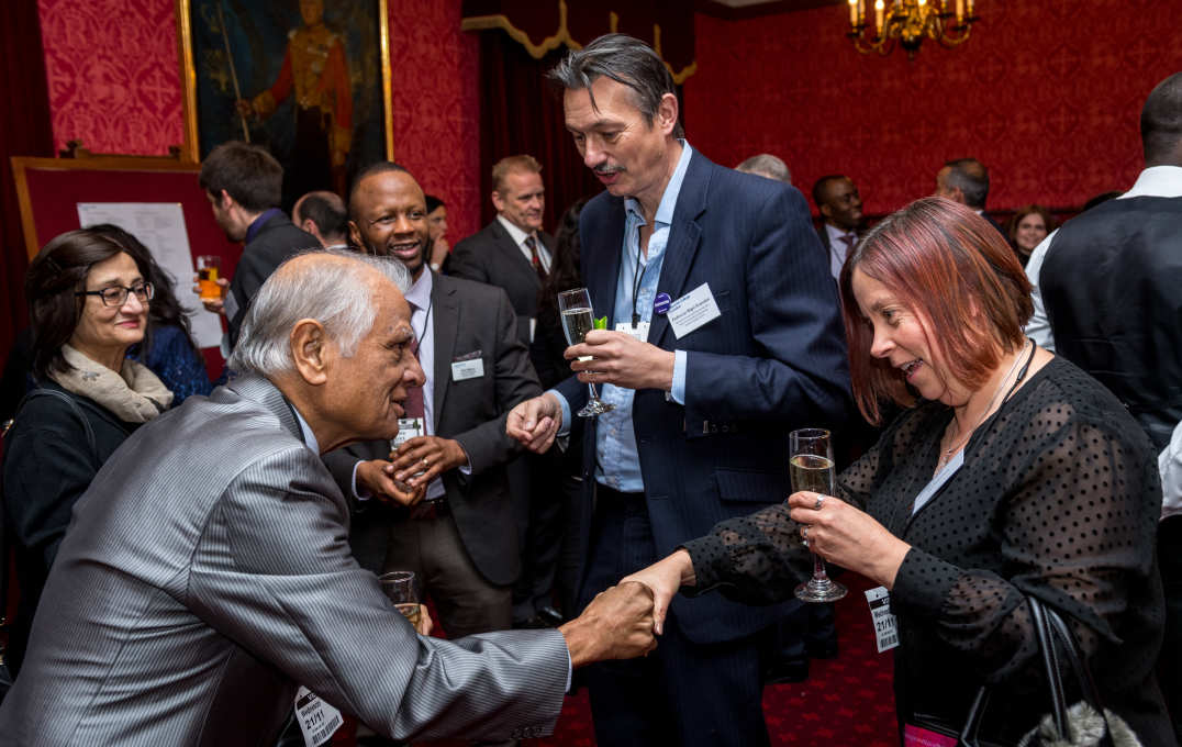Alumni chat in the House of Lords