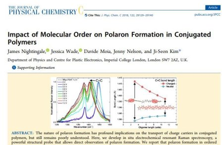 Impact of Molecular Order on Polaron Formation in Conjugated Polymers