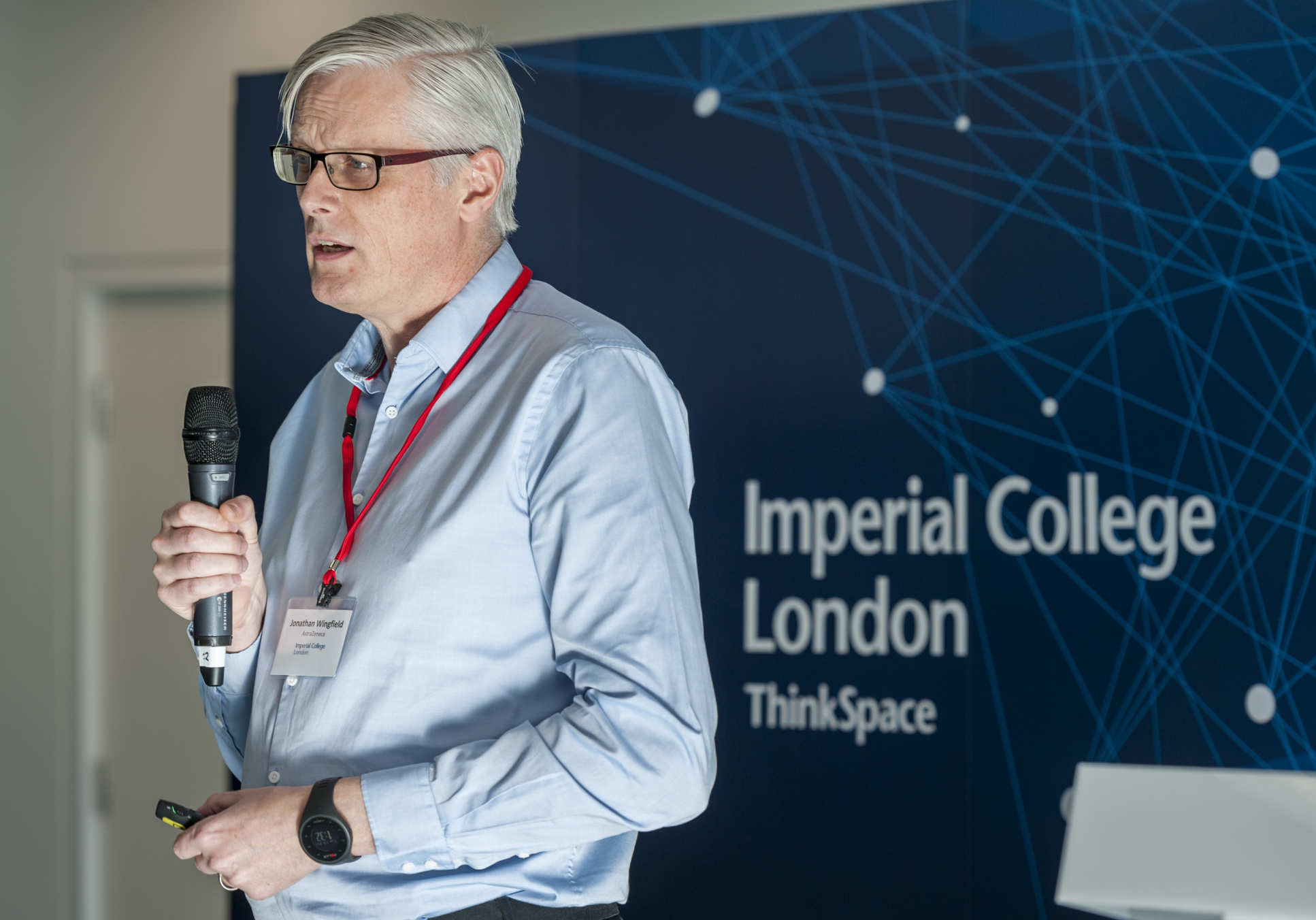 Dr Jonathan Wingfield, Principal Scientist at AstraZeneca, speaking at the launch of Imperial Confidence in Concept in February 2019
