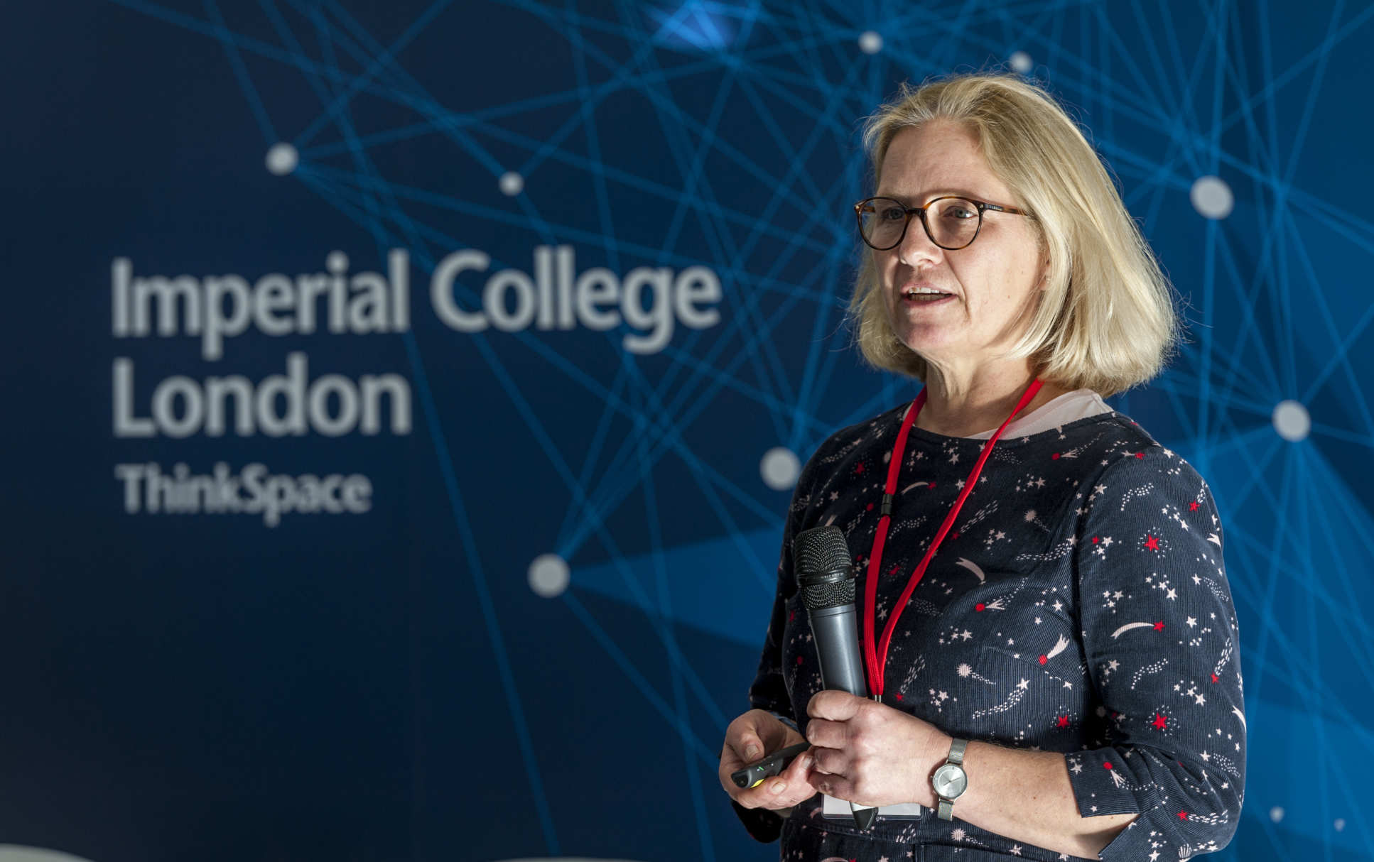 Professor Uta Griesenbach speaking at the launch of Imperial Confidence in Concept in February 2019