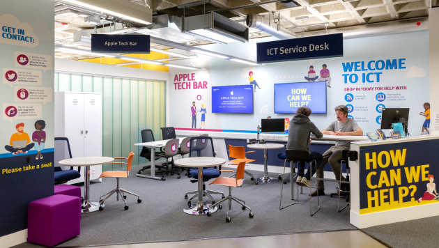 Apple tech bar and ICT service desk