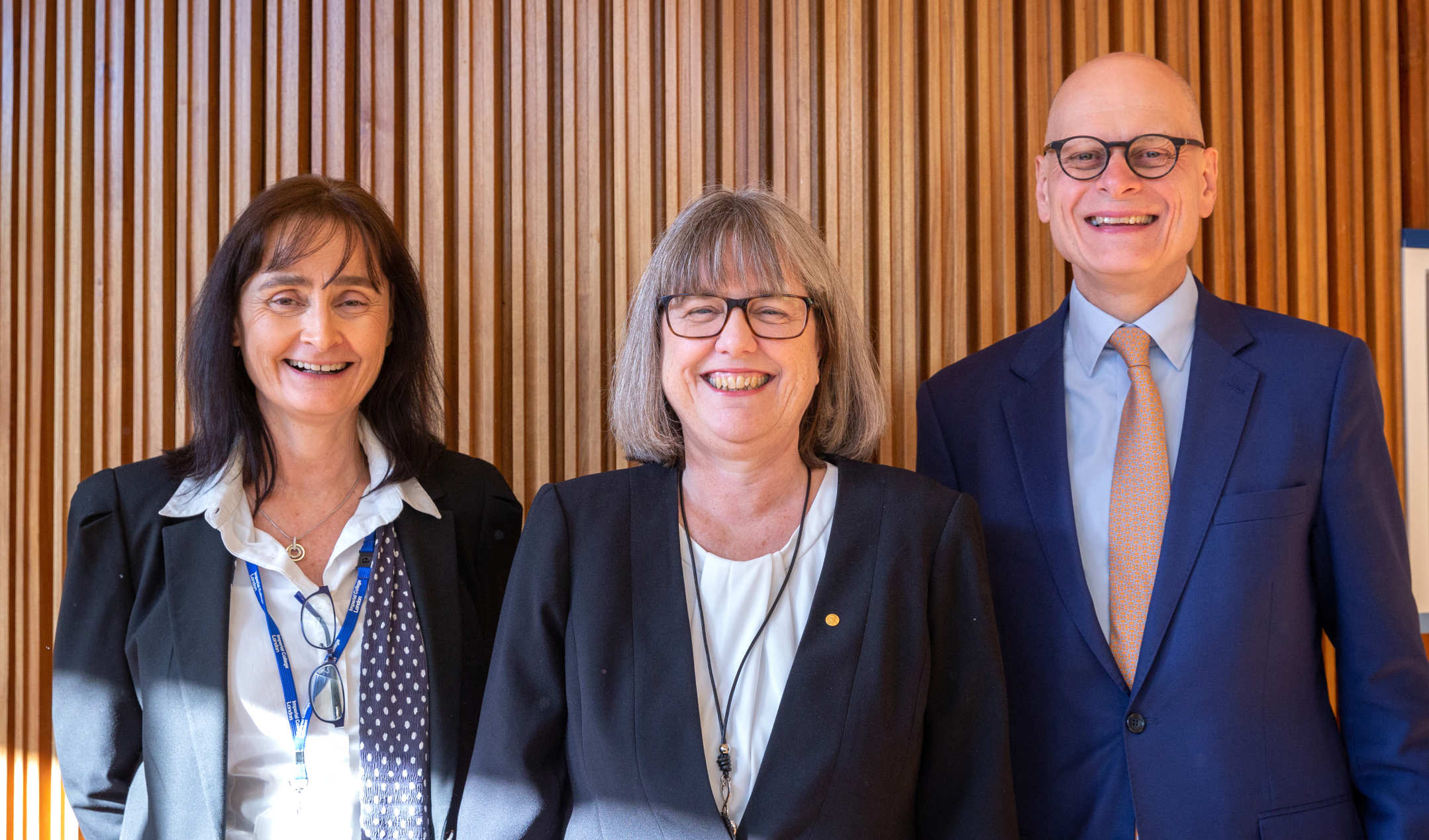 Prof Ian Walmsley with Prof Michele Dougherty and Prof Donna Strickland