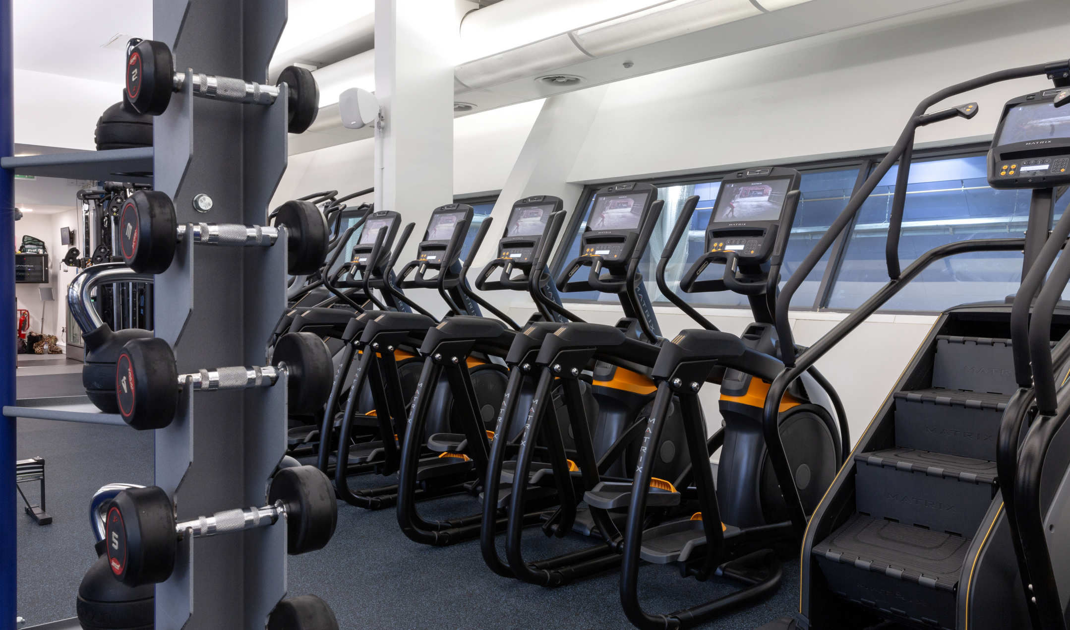 Fully equipped gym for use by summer accommodation guests