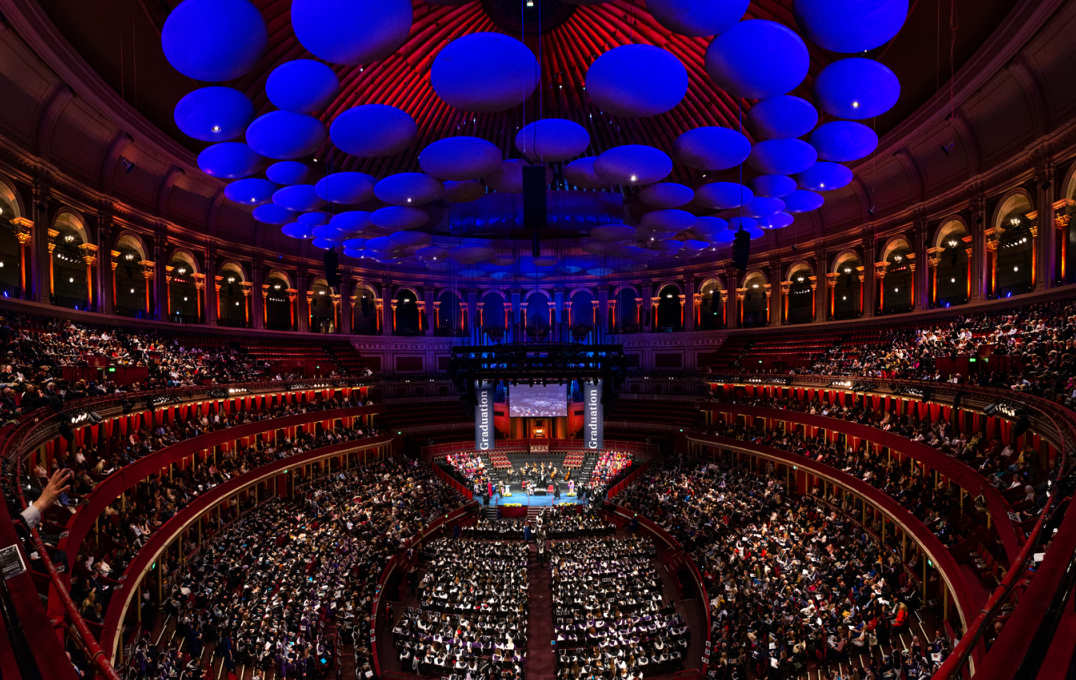 The Royal Albert Hall during the graduation ceremony