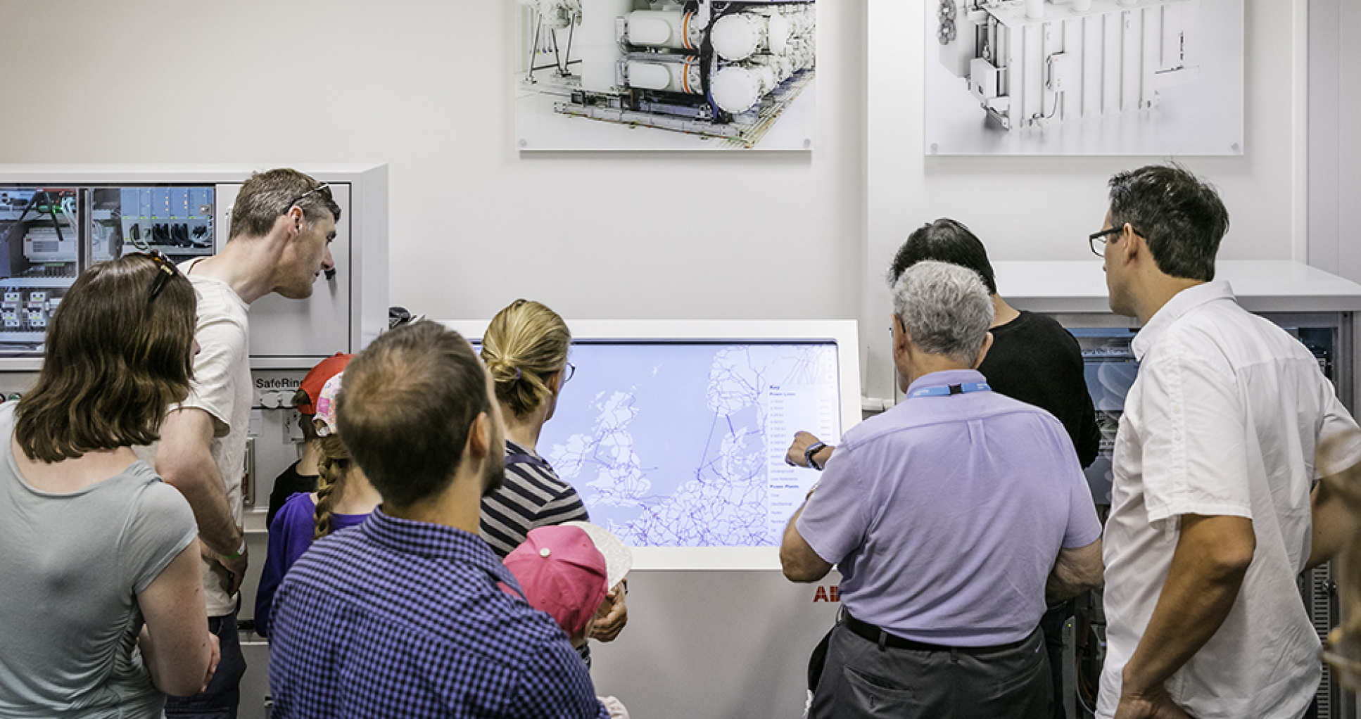 Guest being shown around the ABB-Imperial Digital Energy Demonstrator facility