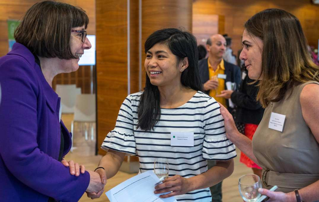 Professor Janice Sigsworth, Director of Nursing at Imperial College Healthcare NHS Trust, meets this year's research fellow Melanie Almonte,  Professor Janice Sigsworth. Director of Nursing at Imperial College Healthcare NHS Trust, meets this year's research fellow Melanie Almonte, Research Nurse at Imperial College Healthcare NHS Trust