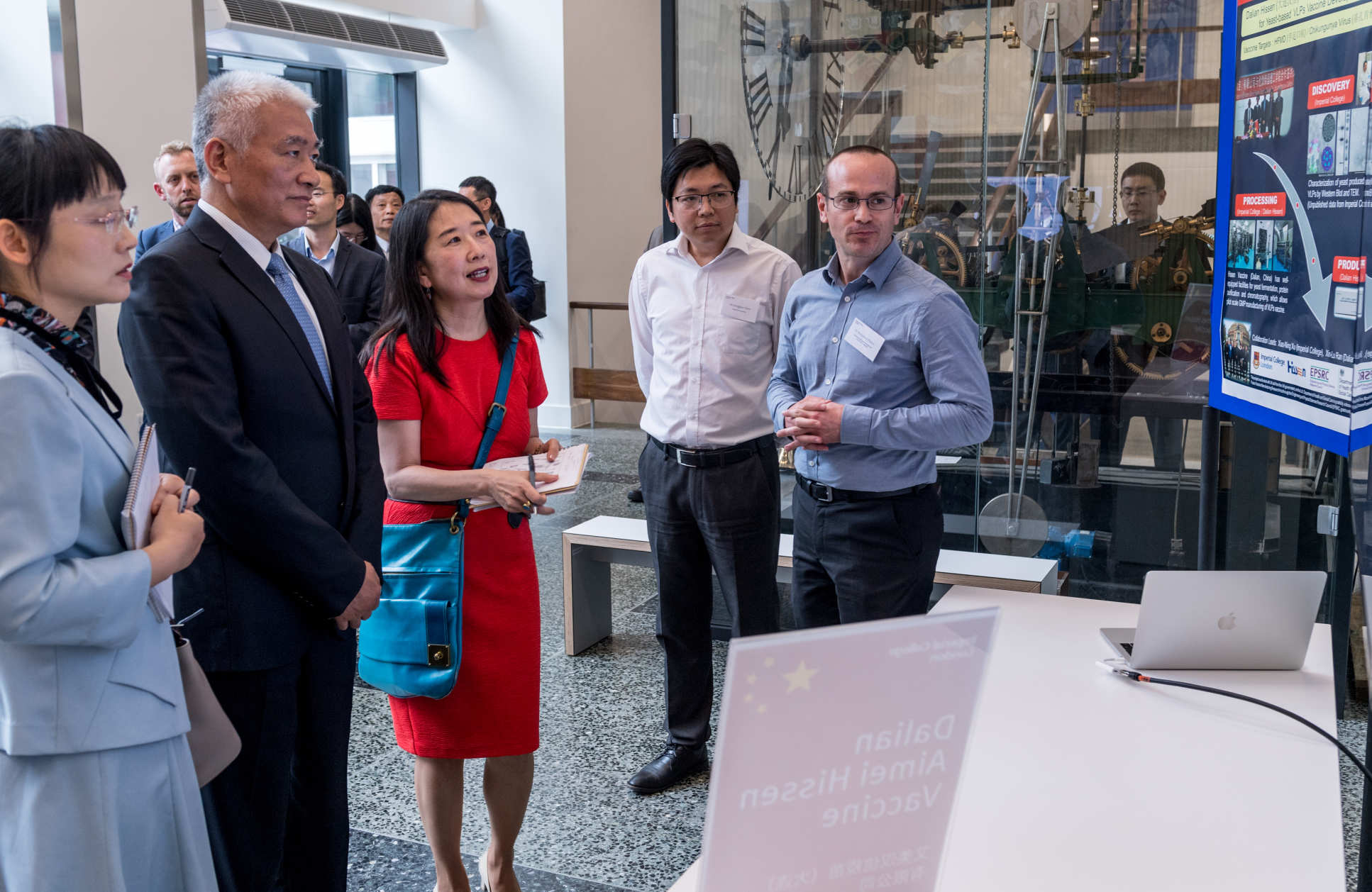 The Minister learned about UK-China vaccine collaborations