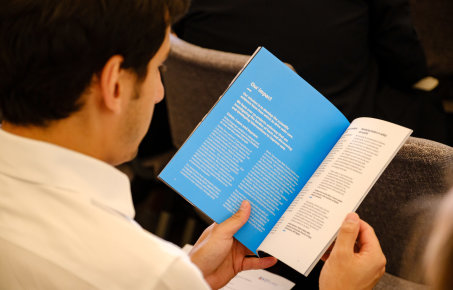A man reading one of our patient safety reports