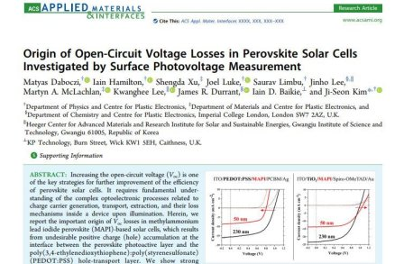 Origin of Open-Circuit Voltage Losses in Perovskite Solar Cells Investigated by Surface Photovoltage Measurement