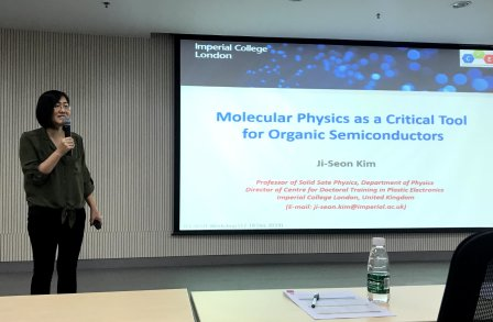 Ji Seon presented Molecular Physics as a Critical Tool for Organic Semiconductors