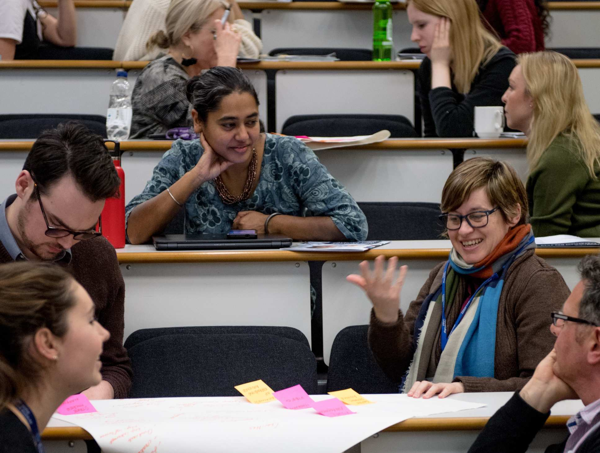 Engagement Day attendees participating in a workshop