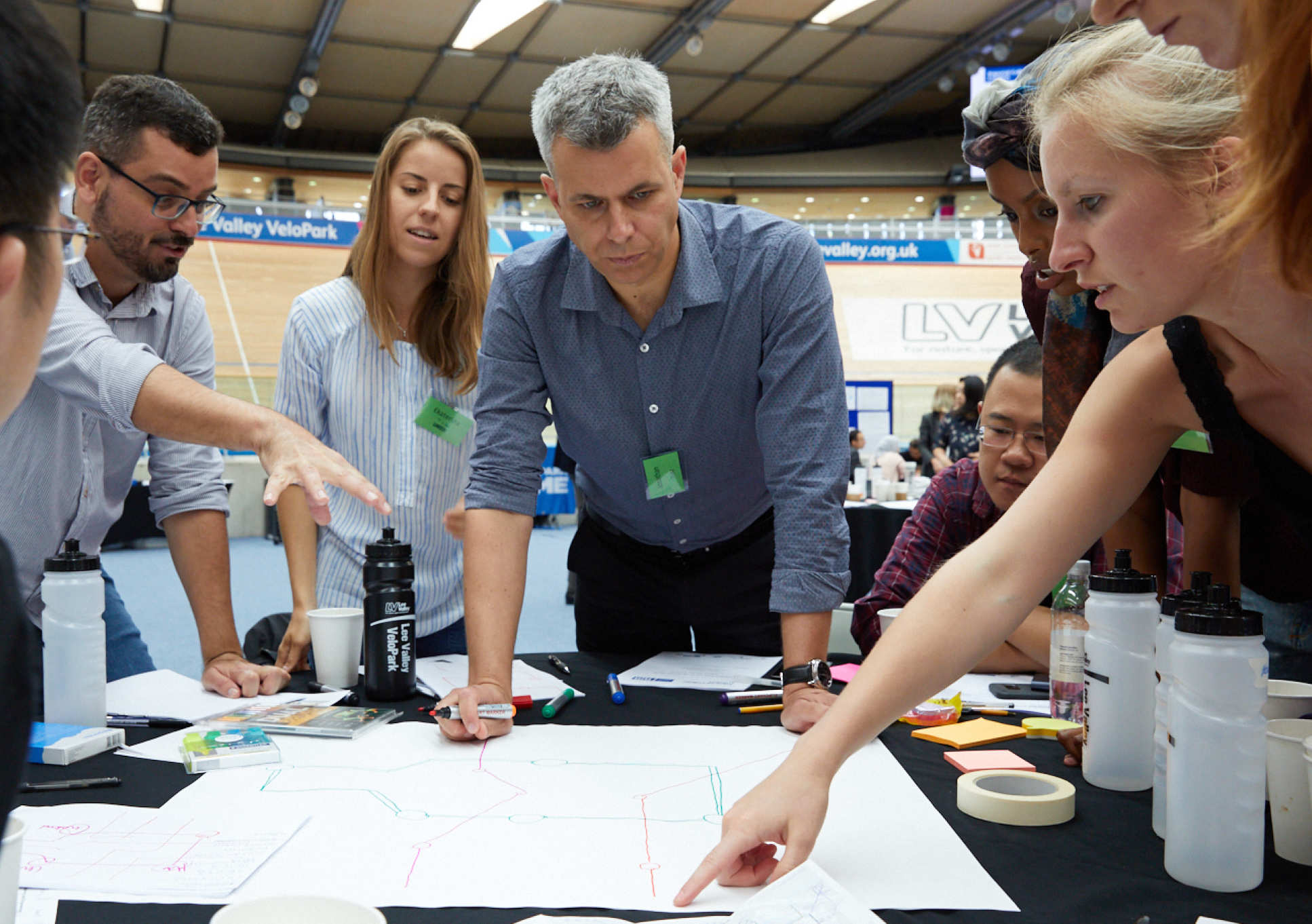 The teams discussed global challenges facing cities in the future