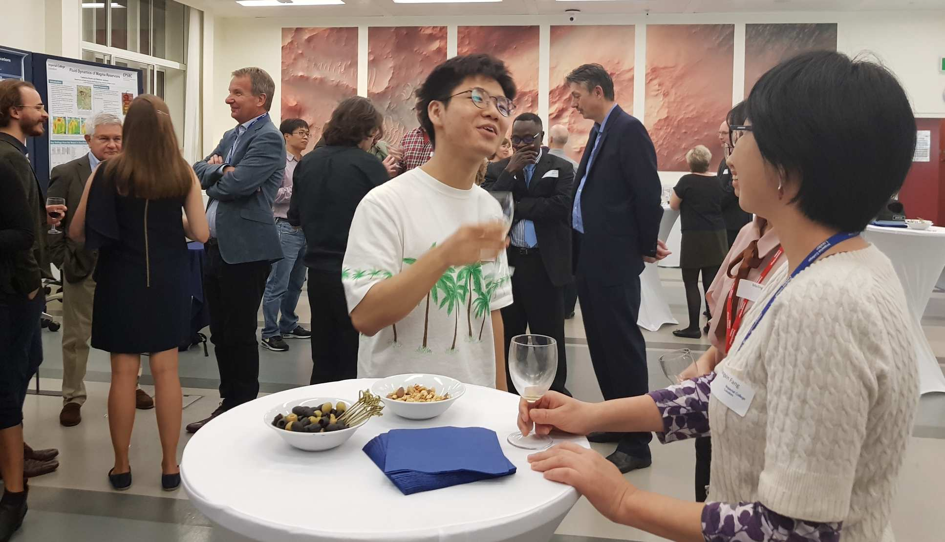 Staff and students at postgraduate prize reception