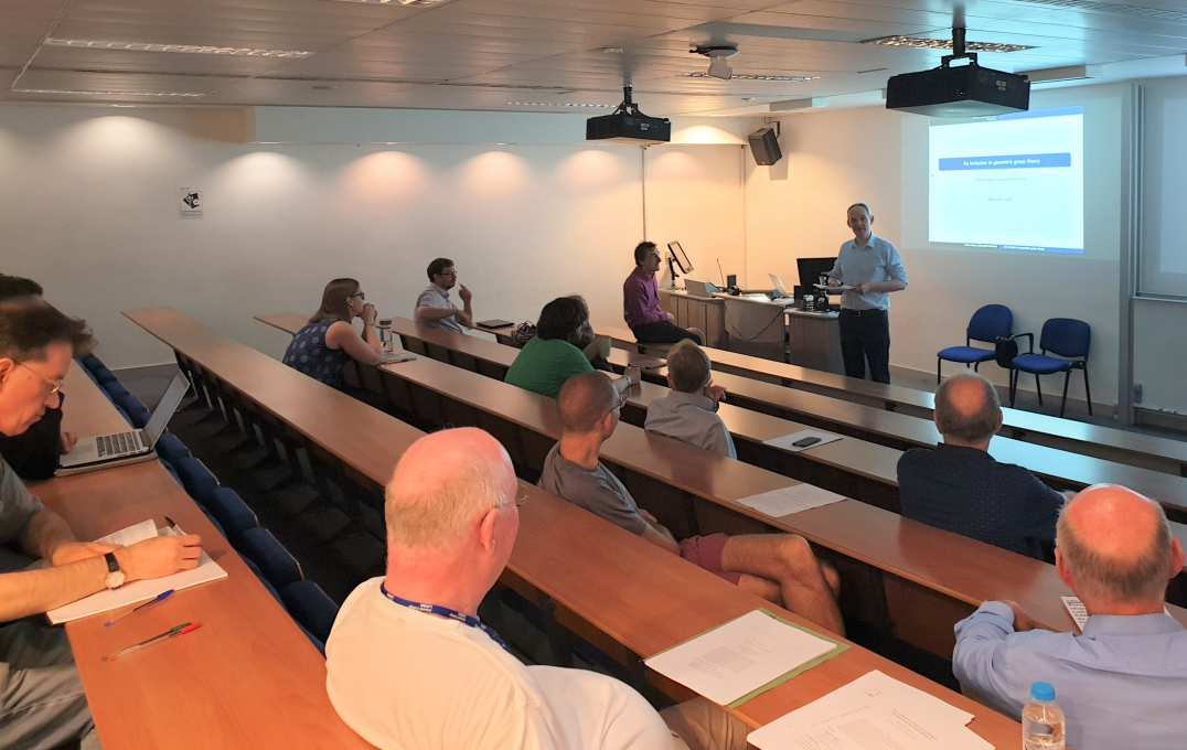 Professor Richard Craster speaks to members of the UMI