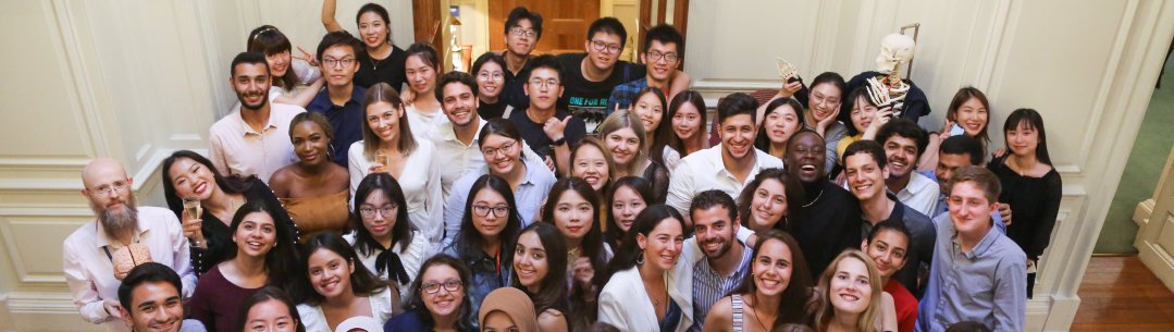 A picture of the 2019 students at the graduation party at the end of the Summer School programme