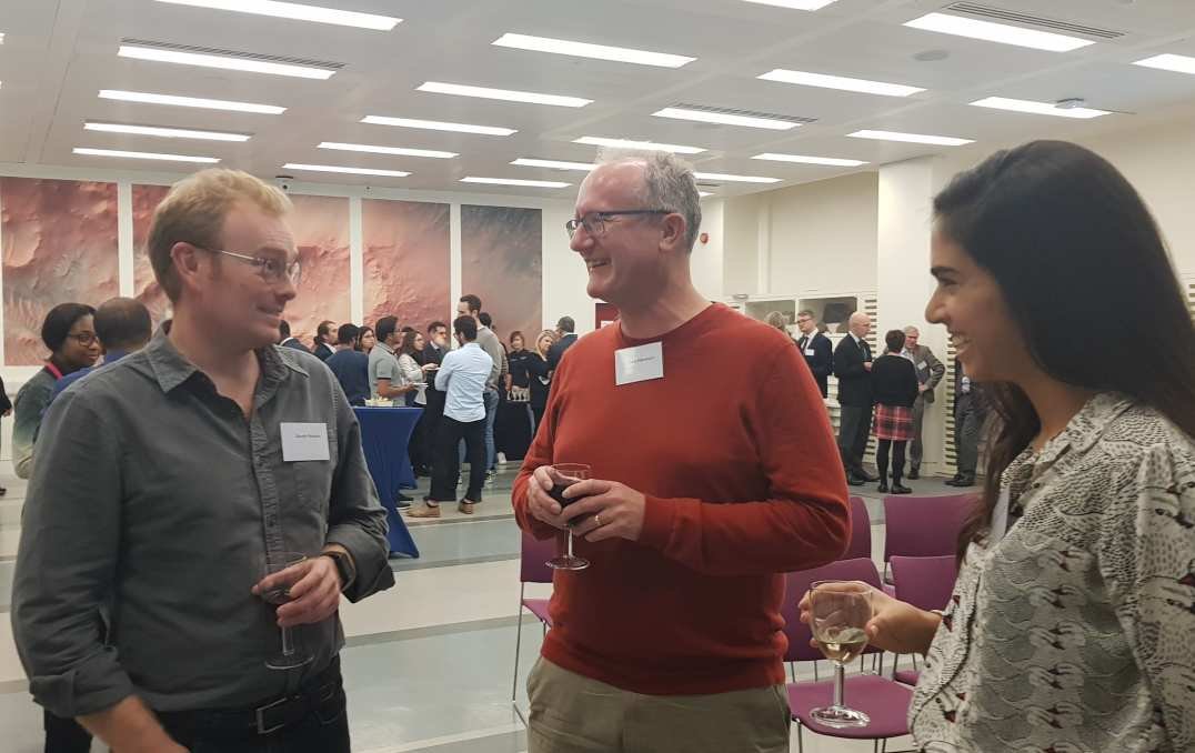 Gareth, Gary and Victoria at PG Prize Reception