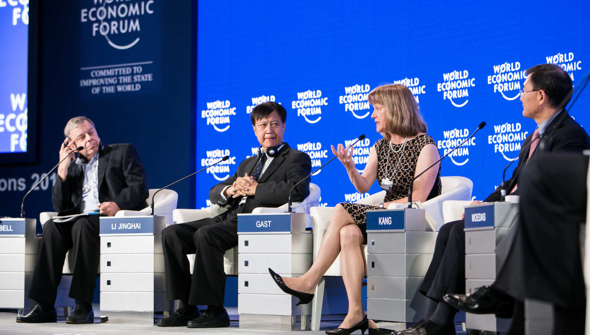 President Gast speaks at the World Economic Forum