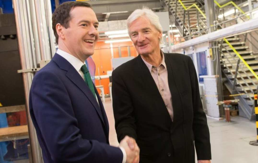 Photo of George Osborne and Sir James at Imperial