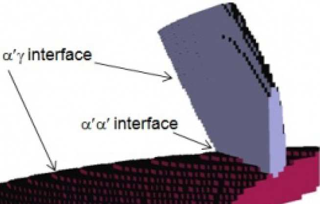 Schematic of the microstructure in steels.