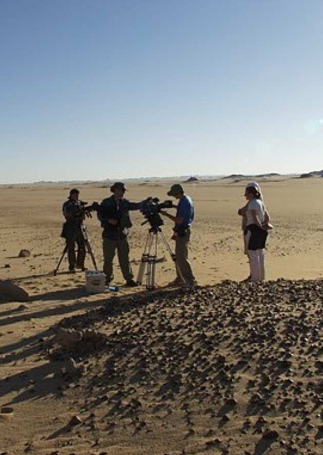 Filming in the Sahara
