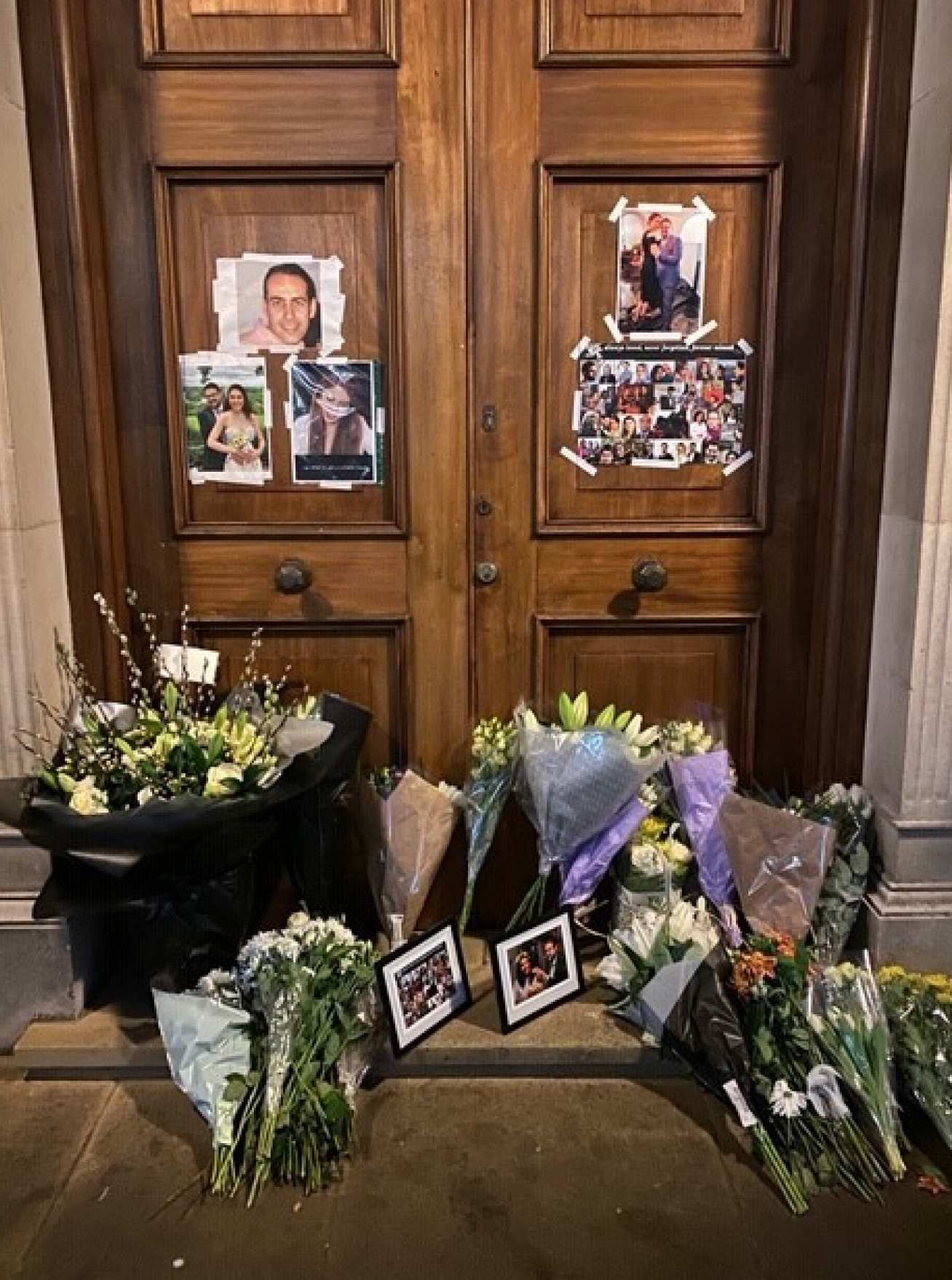 Tributes to Saeed at the Queen's Tower