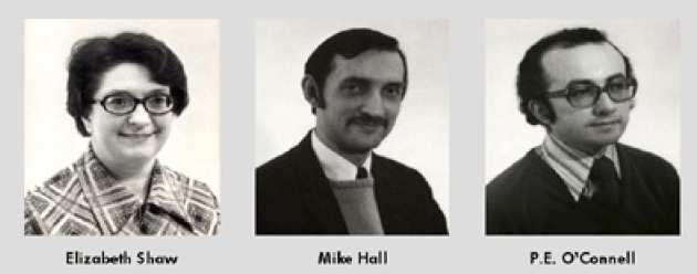 Elizabeth Shaw, Mike Hall, P.E. O'Connell