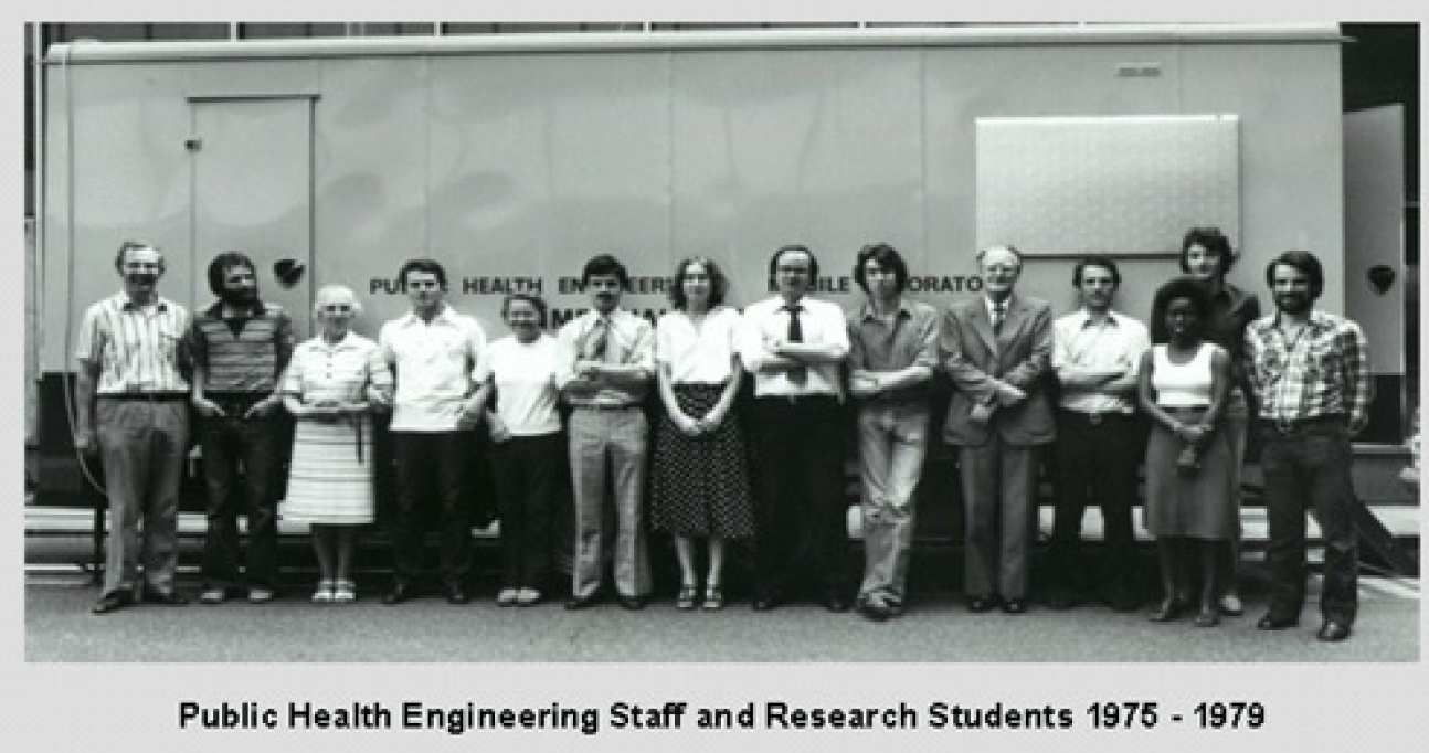 Public health Engineering Staff and Research Students 1975